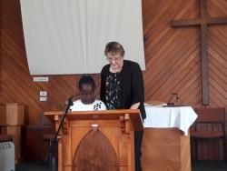 Cynthia & Lynne Reading Nehemiah 8