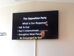What is our response to opposition?