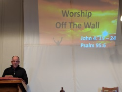 Worship off the wall