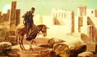 Nehemiah surveying the wall