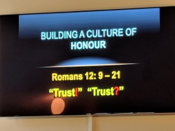 Sermon doug - Building a culture of honour - Trust